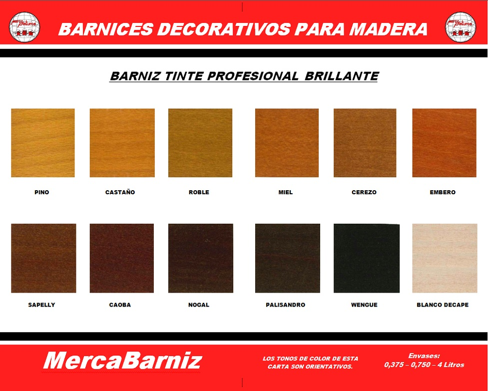 Cartas de colores mercapinturas - Pintura para madera colores ...