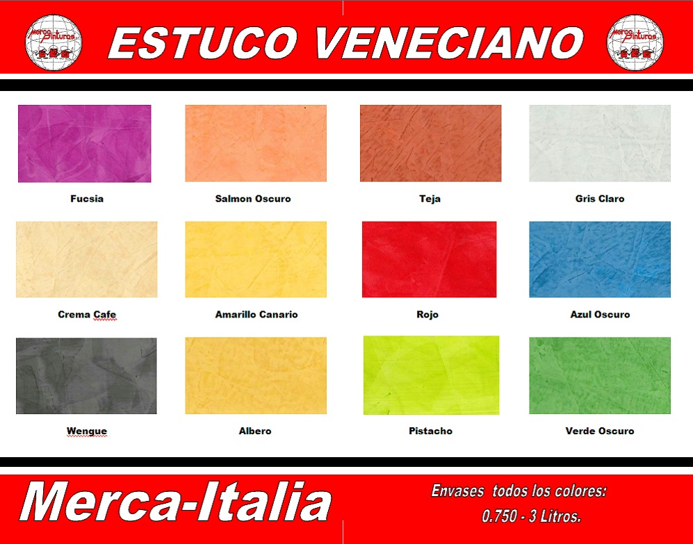 carta de colores mercaitalia