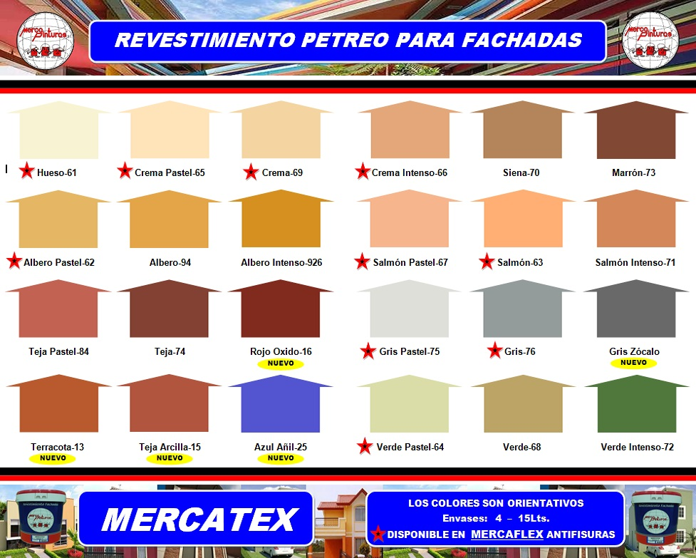 carta de colores mercatex