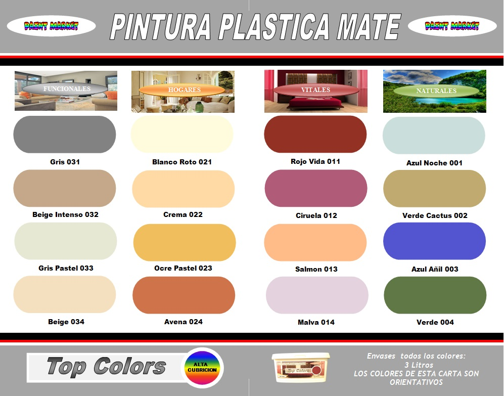 Carta Colores Pintura Pared. Latest Coleccion Exclusivos Plastica ...