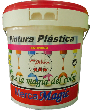 pintura plastica satinada merca magic