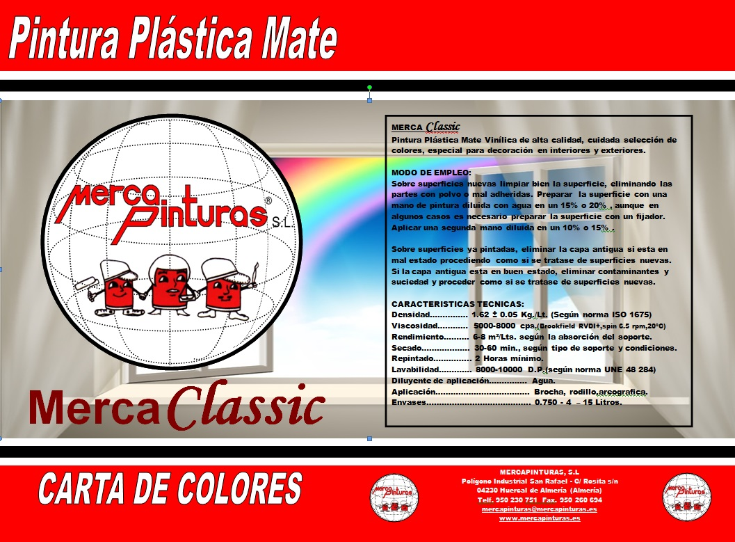 carta de colores mercaclasic