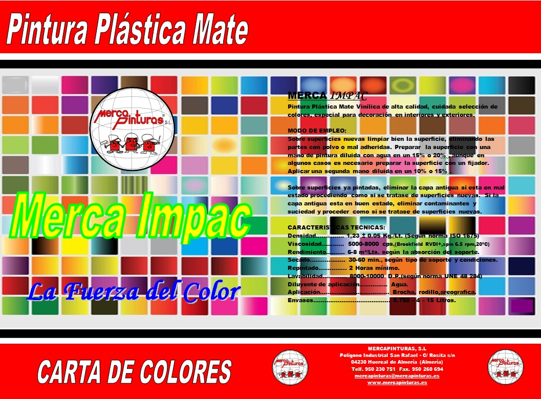 carta de colores mercaimpac