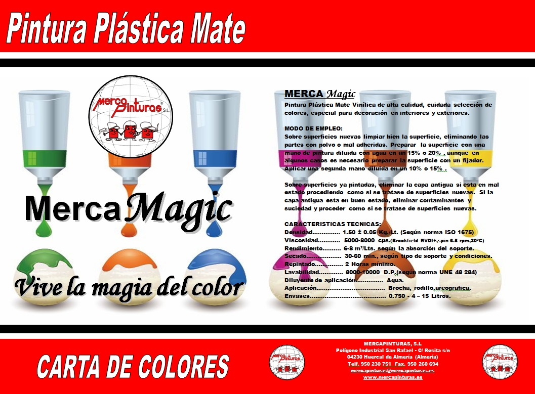 carta de colores mercamagic