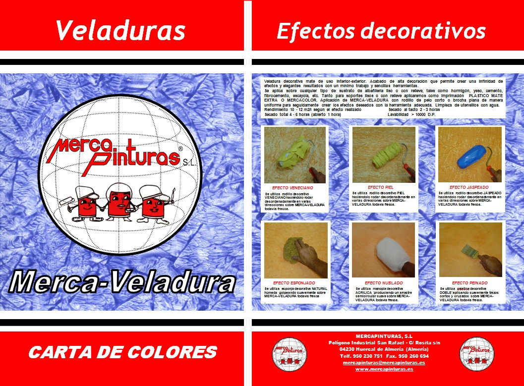 carta de colores mercaveladuras